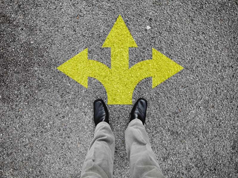 arrows pointing in different directions GlobalNet strategy consultancy