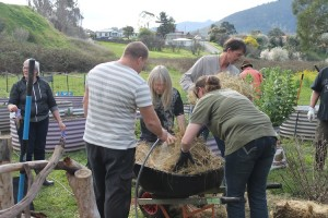 Derwent Valley students undertaking a horticulture course with GlobalNet Academy and the Royal Tasmanian Botanical Gardens