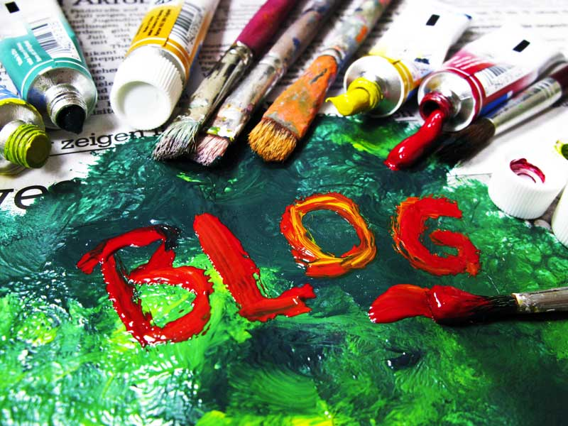 blog word written in paint GlobalNet social media consultancy